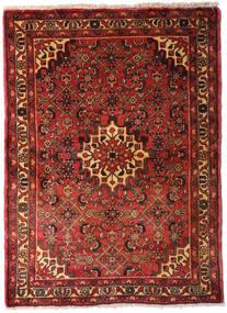 Hamadan Dywan 105X145 Orientalny Tkany Ręcznie Ciemnoczerwony/Ciemnobrązowy (Wełna, Persja/Iran)