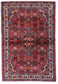 Hamadan Dywan 100X150 Orientalny Tkany Ręcznie Ciemnoczerwony/Ciemnobrązowy (Wełna, Persja/Iran)