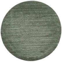 Handloom - Leśna Zieleń Dywan Ø 250 Nowoczesny Okrągły Ciemnozielony/Jasnozielony Duży (Wełna, Indie)