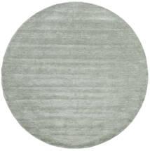 Handloom - Soft Teal Dywan Ø 250 Nowoczesny Okrągły Jasnozielony/Turkusowy Niebieski Duży (Wełna, Indie)