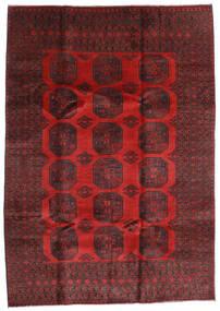 Afgan Dywan 205X288 Orientalny Tkany Ręcznie Ciemnoczerwony/Czarny (Wełna, Afganistan)