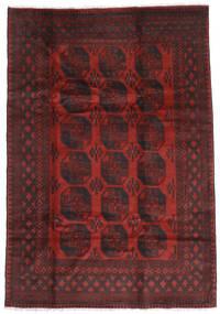 Afgan Dywan 196X285 Orientalny Tkany Ręcznie Ciemnoczerwony/Ciemnobrązowy (Wełna, Afganistan)