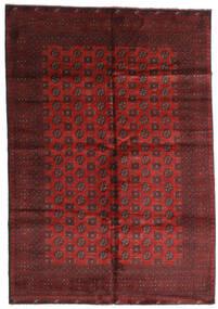 Afgan Dywan 199X287 Orientalny Tkany Ręcznie Ciemnoczerwony/Ciemnobrązowy (Wełna, Afganistan)