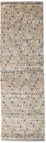 Moroccan Berber - Afghanistan Dywan 94X295 Nowoczesny Tkany Ręcznie Chodnik Jasnoszary/Beżowy (Wełna, Afganistan)