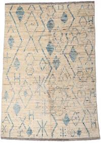 Moroccan Berber - Afghanistan Dywan 160X234 Nowoczesny Tkany Ręcznie Jasnoszary/Beżowy (Wełna, Afganistan)