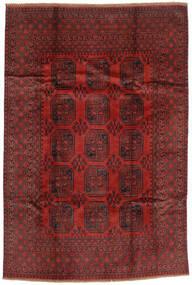 Afgan Dywan 193X289 Orientalny Tkany Ręcznie Ciemnoczerwony/Ciemnobrązowy (Wełna, Afganistan)