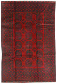 Afgan Dywan 195X288 Orientalny Tkany Ręcznie Ciemnoczerwony/Czarny (Wełna, Afganistan)