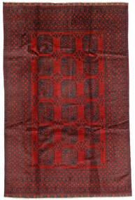 Afgan Dywan 192X293 Orientalny Tkany Ręcznie Ciemnoczerwony/Ciemnobrązowy (Wełna, Afganistan)