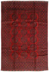 Afgan Dywan 197X287 Orientalny Tkany Ręcznie Ciemnoczerwony/Ciemnobrązowy (Wełna, Afganistan)