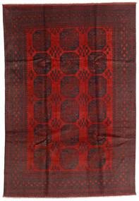 Afgan Dywan 196X287 Orientalny Tkany Ręcznie Ciemnoczerwony/Czarny (Wełna, Afganistan)