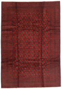 Afgan Dywan 199X289 Orientalny Tkany Ręcznie Ciemnoczerwony/Ciemnobrązowy (Wełna, Afganistan)