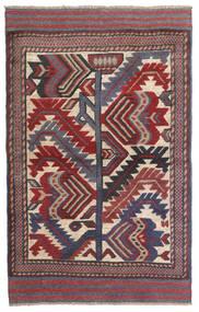 Kilim Golbarjasta Dywan 90X145 Orientalny Tkany Ręcznie Ciemnoszary/Ciemnoczerwony (Wełna, Afganistan)