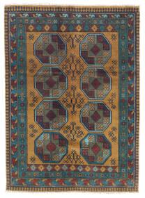 Afgan Dywan 122X170 Orientalny Tkany Ręcznie Ciemnoszary/Jasnobrązowy (Wełna, Afganistan)