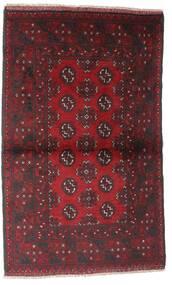 Afgan Dywan 86X143 Orientalny Tkany Ręcznie Ciemnoczerwony/Ciemnobrązowy (Wełna, Afganistan)