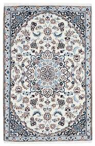 Nain 9La Dywan 90X137 Orientalny Tkany Ręcznie Biały/Creme/Jasnoniebieski (Wełna/Jedwab, Persja/Iran)