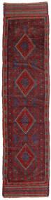 Kilim Golbarjasta Dywan 58X244 Orientalny Tkany Ręcznie Chodnik Ciemnoczerwony/Ciemnoszary (Wełna, Afganistan)