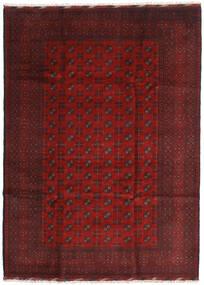 Afgan Dywan 205X284 Orientalny Tkany Ręcznie Ciemnoczerwony/Ciemnobrązowy (Wełna, Afganistan)