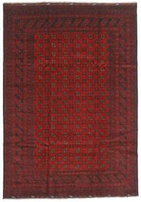 Afgan Dywan 202X289 Orientalny Tkany Ręcznie Ciemnoczerwony/Ciemnoszary (Wełna, Afganistan)