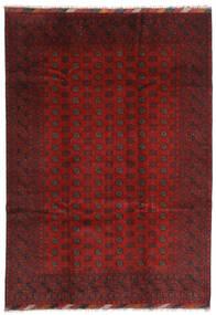 Afgan Dywan 204X287 Orientalny Tkany Ręcznie Ciemnoczerwony/Ciemnobrązowy (Wełna, Afganistan)