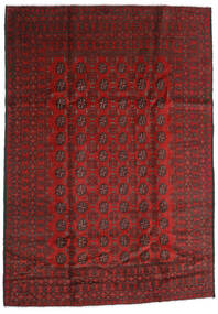 Afgan Dywan 198X283 Orientalny Tkany Ręcznie Ciemnoczerwony/Ciemnobrązowy (Wełna, Afganistan)