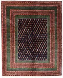 Gabbeh Kaszkuli Dywan 151X190 Nowoczesny Tkany Ręcznie Ciemnoczerwony/Ciemnobrązowy (Wełna, Persja/Iran)