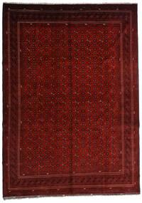 Kunduz Dywan 246X348 Orientalny Tkany Ręcznie Ciemnoczerwony/Ciemnobrązowy (Wełna, Afganistan)