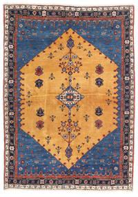 Gabbeh Kaszkuli Dywan 124X174 Nowoczesny Tkany Ręcznie Jasnobrązowy/Ciemnoniebieski (Wełna, Persja/Iran)