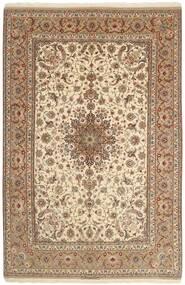 Isfahan Jedwabna Osnowa Dywan 207X314 Orientalny Tkany Ręcznie Brązowy/Beżowy (Wełna/Jedwab, Persja/Iran)
