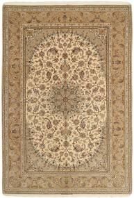 Isfahan Jedwabna Osnowa Dywan 208X306 Orientalny Tkany Ręcznie Jasnobrązowy/Ciemnobeżowy (Wełna/Jedwab, Persja/Iran)