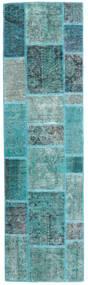 Patchwork - Persien/Iran Dywan 70X251 Nowoczesny Tkany Ręcznie Chodnik Turkusowy Niebieski/Turkusowy Niebieski (Wełna, Persja/Iran)