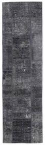 Patchwork - Persien/Iran Dywan 71X251 Nowoczesny Tkany Ręcznie Chodnik Ciemnoszary/Jasnofioletowy (Wełna, Persja/Iran)
