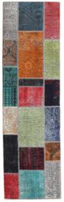Patchwork - Persien/Iran Dywan 73X253 Nowoczesny Tkany Ręcznie Chodnik Ciemnoszary/Niebieski (Wełna, Persja/Iran)