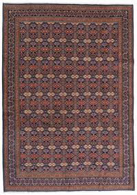 Moud Dywan 262X375 Orientalny Tkany Ręcznie Ciemnobrązowy/Ciemnoczerwony Duży (Wełna/Jedwab, Persja/Iran)