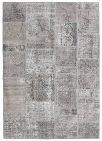 Patchwork - Persien/Iran Dywan 140X200 Nowoczesny Tkany Ręcznie Jasnoszary/Ciemnoszary (Wełna, Persja/Iran)