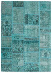 Patchwork - Persien/Iran Dywan 141X198 Nowoczesny Tkany Ręcznie Turkusowy Niebieski/Turkusowy Niebieski (Wełna, Persja/Iran)