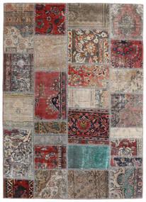 Patchwork - Persien/Iran Dywan 141X198 Nowoczesny Tkany Ręcznie Jasnoszary/Ciemnoczerwony (Wełna, Persja/Iran)