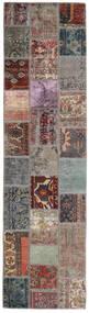 Patchwork - Persien/Iran Dywan 82X303 Nowoczesny Tkany Ręcznie Chodnik Jasnoszary/Czarny (Wełna, Persja/Iran)