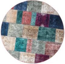 Patchwork - Persien/Iran Dywan Ø 200 Nowoczesny Tkany Ręcznie Okrągły Jasnoszary/Niebieski (Wełna, Persja/Iran)