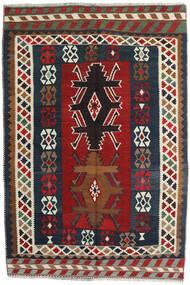 Kilim Vintage Dywan 141X213 Orientalny Tkany Ręcznie Ciemnoczerwony/Ciemnoszary (Wełna, Persja/Iran)