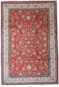 Saruk Dywan 205X300 Orientalny Tkany Ręcznie Ciemnobrązowy/Ciemnoczerwony (Wełna, Persja/Iran)
