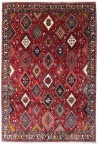 Yalameh Dywan 200X292 Orientalny Tkany Ręcznie Ciemnoczerwony (Wełna, Persja/Iran)