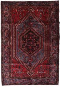 Hamadan Dywan 162X234 Orientalny Tkany Ręcznie Ciemnoczerwony (Wełna, Persja/Iran)