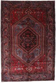 Hamadan Dywan 158X233 Orientalny Tkany Ręcznie Ciemnoczerwony (Wełna, Persja/Iran)