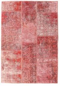 Patchwork - Persien/Iran Dywan 107X155 Nowoczesny Tkany Ręcznie Jasnoróżowy/Ciemnoczerwony (Wełna, Persja/Iran)