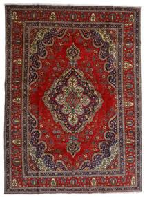 Tebriz Dywan 300X408 Orientalny Tkany Ręcznie Ciemnoczerwony/Ciemnoszary Duży (Wełna, Persja/Iran)
