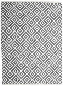 Bamboo Jedwab Kilim Dywan 300X400 Nowoczesny Tkany Ręcznie Jasnoszary/Ciemnoszary/Biały/Creme Duży (Wełna/Jedwab Bambusowy, Indie)