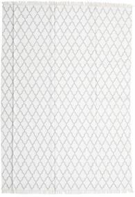 Bamboo Jedwab Kilim Dywan 250X350 Nowoczesny Tkany Ręcznie Biały/Creme/Jasnoszary Duży (Wełna/Jedwab Bambusowy, Indie)