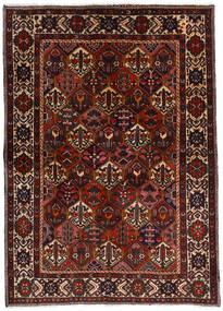 Baktjar Dywan 153X212 Orientalny Tkany Ręcznie Ciemnobrązowy/Ciemnoczerwony (Wełna, Persja/Iran)
