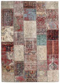 Patchwork - Persien/Iran Dywan 170X241 Nowoczesny Tkany Ręcznie Jasnoszary/Brązowy (Wełna, Persja/Iran)