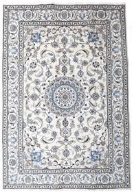 Nain Dywan 191X286 Orientalny Tkany Ręcznie Beżowy/Jasnoszary (Wełna, Persja/Iran)